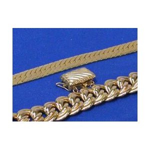 Two 14kt Gold Bracelets and 14kt Gold Clasp