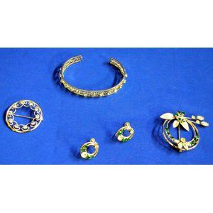 Krementz Bracelet and Brooch and Brooch and Earrings Sets.