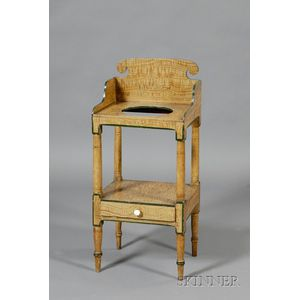Grain-painted Pine Wash Stand