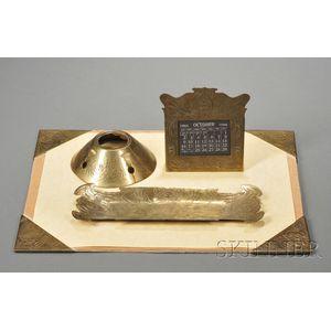 The Art Craft Shop Brass Desk Set