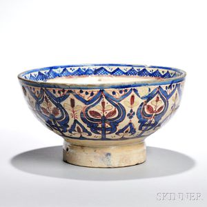 Large Middle Eastern Polychrome Bowl