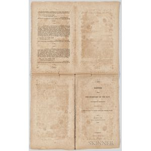 Letter from the Secretary of the Navy Transmitting Information in Relation to the Introduction of Slaves into the United States