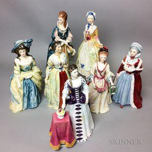 Seven Royal Doulton Ceramic Figures