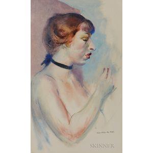 Guy Pène du Bois (American, 1884-1958)      Portrait of Juliana Force