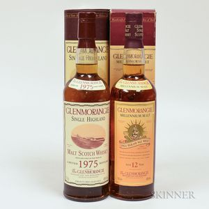 Mixed Glenmorangie, 1 750ml bottle (ot) 1 70cl bottle (oc)