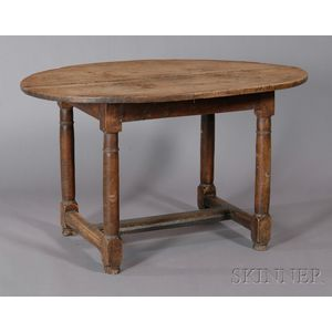 Painted Pine Oval-top Table