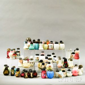 Approximately Ninety-five Glass Salt and Sugar Shakers