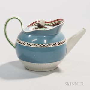 Pearlware Teapot and Cover