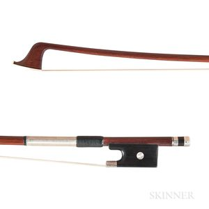 French Silver-mounted Violoncello Bow, Jerome Thibouville-Lamy