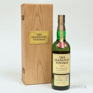 Glenlivet Vintage 1972, 1 750ml bottle (owc)