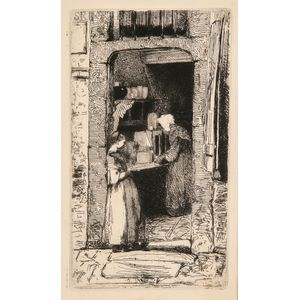 James Abbott McNeill Whistler (American, 1834-1903)      La marchande de moutarde