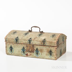 Small Wallpaper-covered Document Box