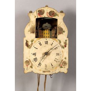 Continental Wag-on-Wall Automaton Clock