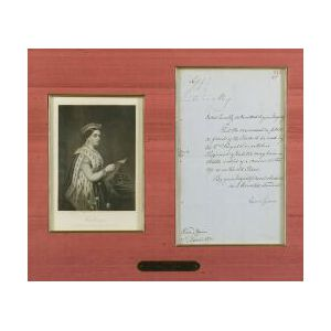Letter Signed by Queen Victoria of England