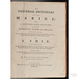 Falconer, William (b. 1732) An Universal Dictionary of the Marine