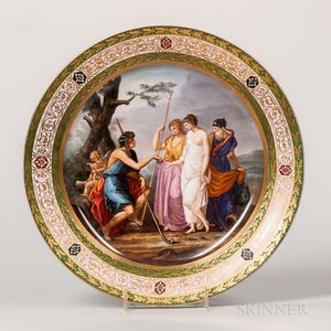 Royal Vienna Porcelain Hand-painted Charger