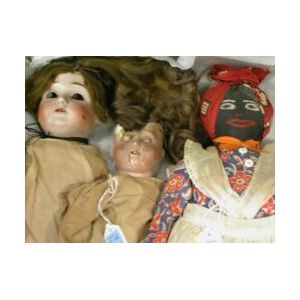 Group of Three Dolls
