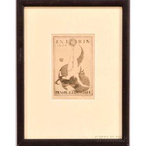 American School, 20th Century      Book Plate: Ex Libris Frank Z. Heuston, 1920.