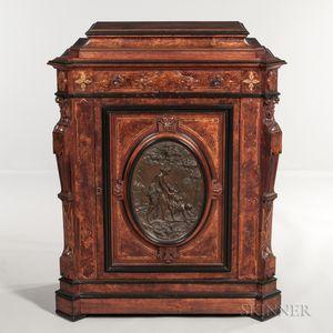 Napoleon III Burlwood-veneered Walnut Cabinet