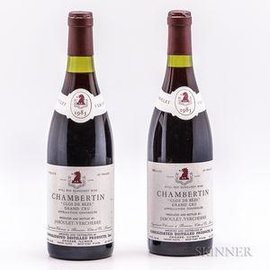 Jaboulet Vercherre Chambertin Clos de Beze 1985, 2 bottles