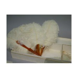 J.E.Caldwell Boxed Ostrich Feather Fan.