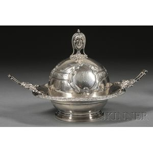 Wood & Hughes Coin Silver Butter Dish