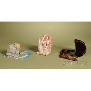 Three Doll Bonnets