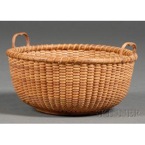 Small Round Nantucket Sewing Basket