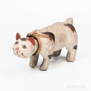 Papier-mache Nodding Cat