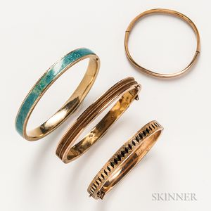 Four Gold Bangles