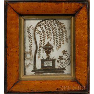 Small Framed Hairwork Memorial