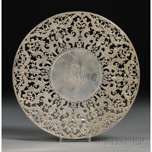 Bailey, Banks & Biddle Reticulated Sterling Cake Plate