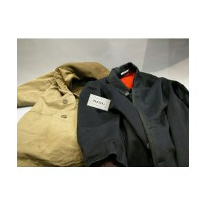 Group of Mens 19th and 20th Century Vests, Clothing, Accessories, Military Wear and a Carriage Blanket.