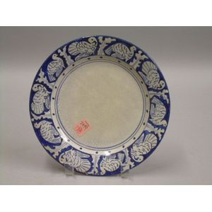 Dedham Pottery Turkey Pattern Plate