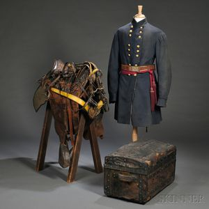 Frock Coats, Saddle, and Trunk of Col. Thomas F. Gallagher