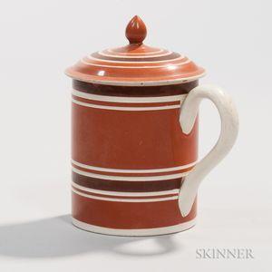 Creamware Mug with Cover