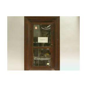 Ogee Mahogany Veneer Clock Case and a Mahogany Wall Shelf.