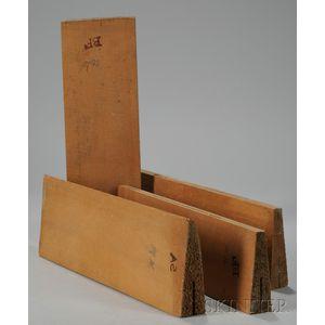 Four Quartersawn Spruce Violin Tops, c. 1950