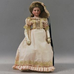 French Bisque Shoulder Head Lady Doll by J.V.