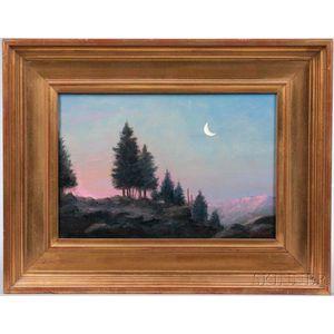 William R. Davis (Massachusetts, 1952-)      Moonlit Landscape