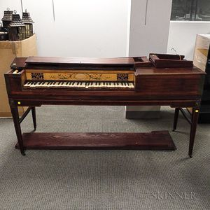 George III Inlaid Mahogany Pianoforte