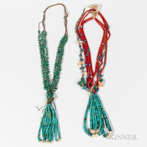 Two Navajo Jacla-style Necklaces