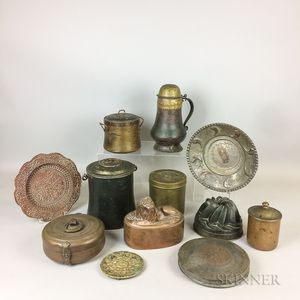 Thirteen Pieces of Domestic Metalware