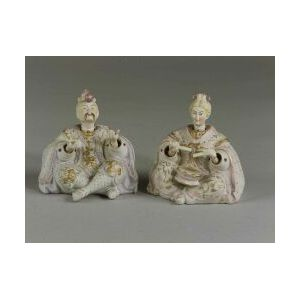Pair of Bisque Porcelain Nodder Figures