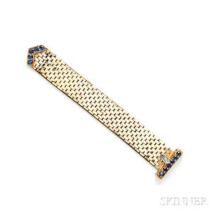 14kt Gold and Sapphire Buckle Ring, Tiffany & Co.