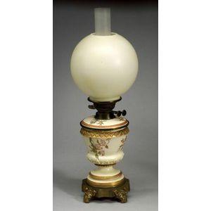 Royal Worcester Porcelain Oil Lamp
