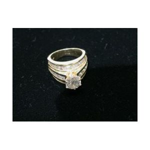 Diamond and 14kt Gold Ring, `