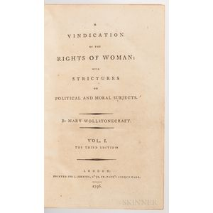 Wollstonecraft, Mary (1759-1797) A Vindication of the Rights of Woman: with Strictures on Political and Moral Subjects, Georgina Bracke