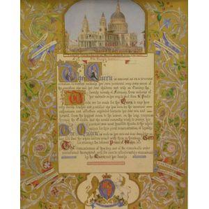 Framed Illuminated Queen Elizabeth II Proclamation Letter