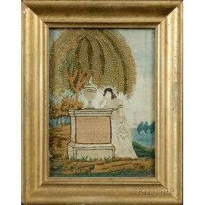 Small Needlework Mourning Picture